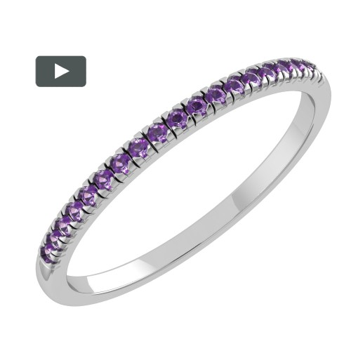 Amethyst band ring