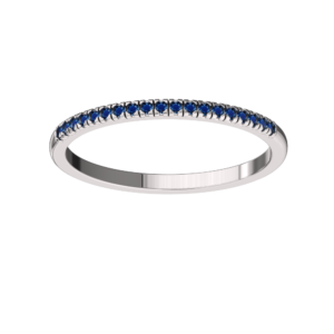 Solid Sterling Silver Dainty & Delicate Blue Sapphire Band Ring for Women