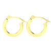 Solid 14k Yellow Gold Plain Lightweight Hoop Earrings in 12mm