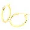 Solid 14k Yellow Gold Plain Lightweight Hoop Earrings in 20mm