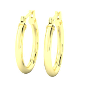 14k Yellow Gold Filled Lightweight Endless Hoop Earrings in 19mm
