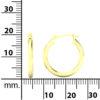 14k Yellow Gold Filled Lightweight Endless Hoop Earrings in 19mm