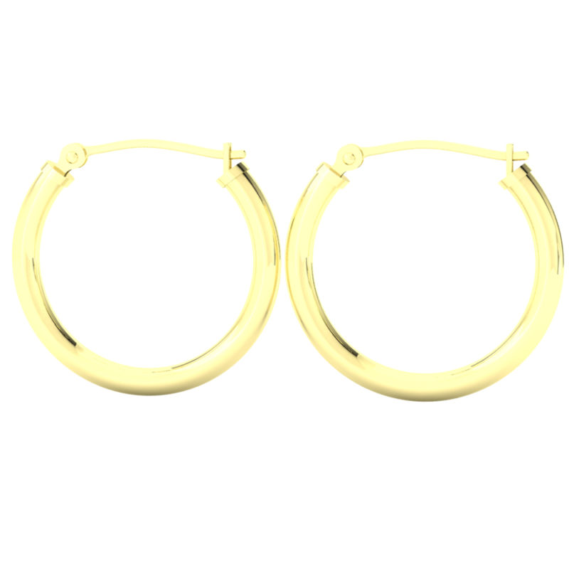14k Yellow Gold Filled Lightweight Endless Hoop Earrings in 22mm