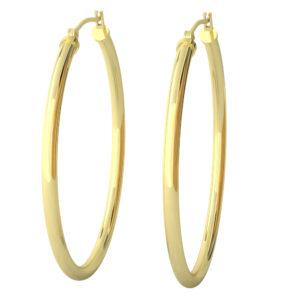 14k Yellow Gold Filled Lightweight Endless Hoop Earrings in 41mm