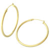 14k Yellow Gold Filled Lightweight Endless Hoop Earrings in 41mm