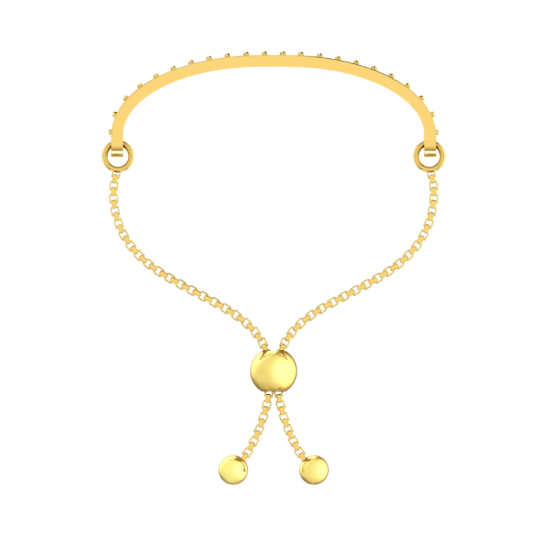 2 Carat Solid Gold Plated Sterling Silver Multi-Gemstone Pride Adjustable Bolo Bracelet with Natural Stones