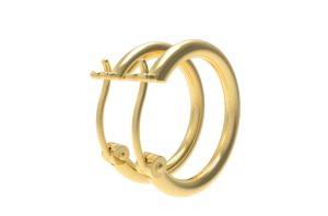 Solid Sterling Silver Gold Plated 4mm Gauge Lightweight Hoop Earrings For Women