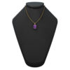 "14K Yellow Gold Oval Shape 18"" Singapore Necklace in 8x10mm Amethyst"