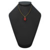 """14K Yellow Gold Oval Shape 18"""" Singapore Necklace in 8x10mm Garnet"""