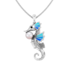 Sea horse with pearl