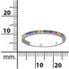 RSR 0938 rainbow CZ band ring