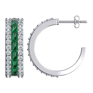 RSe 0389 emerald earrings