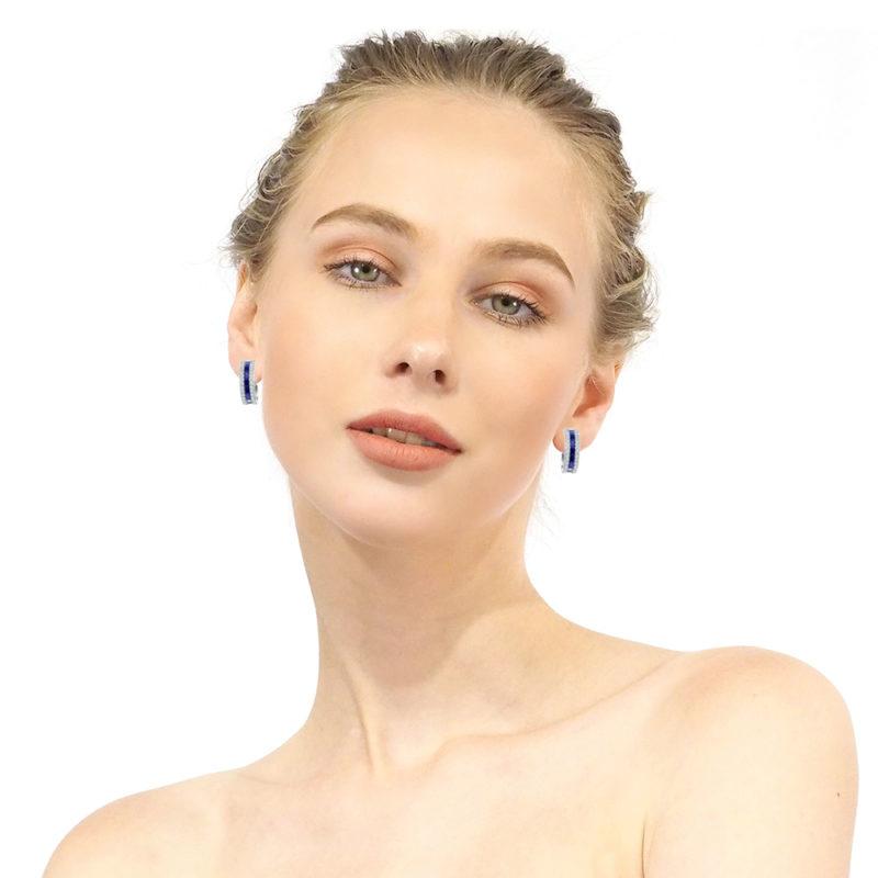 RSe 0389 Blue sapphire earrings