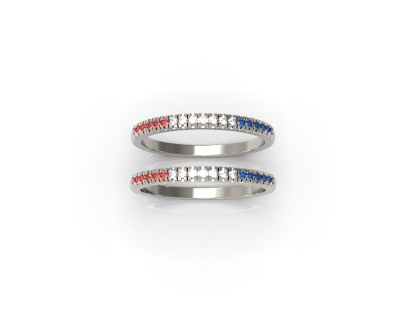 Thicker Ring Tricolor RSR 0938 Stacking
