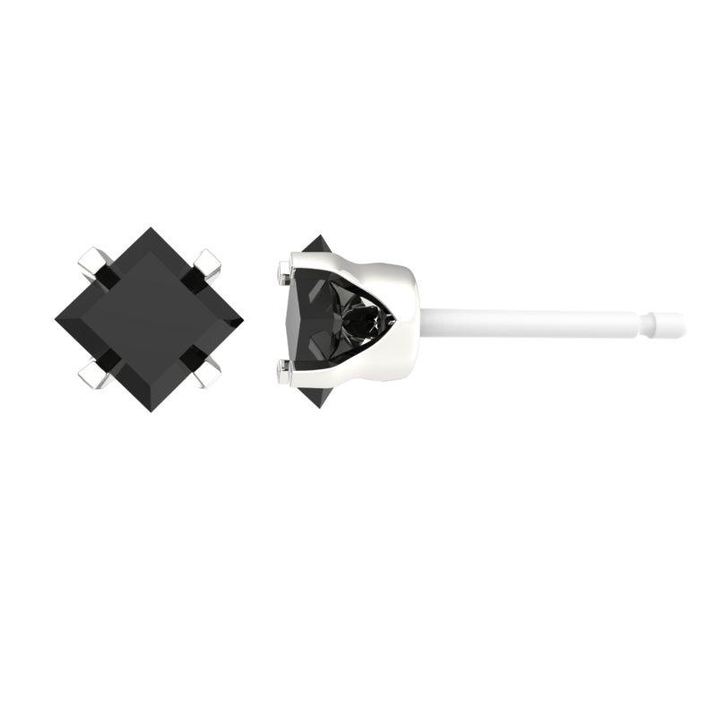 5mm black CZ stud