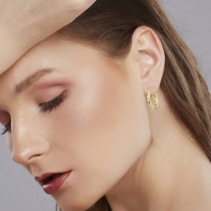 RSE 1342 hoop earrings with click