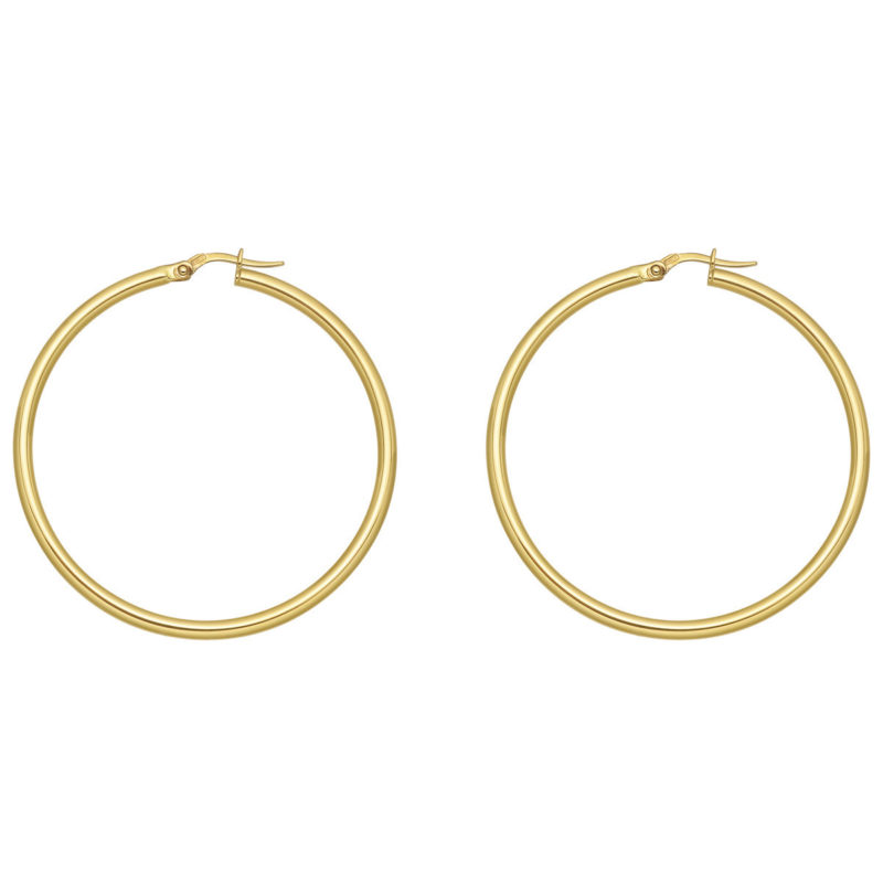 michelle obama hoops belinda jewelz 70mm 2.25mm gauge