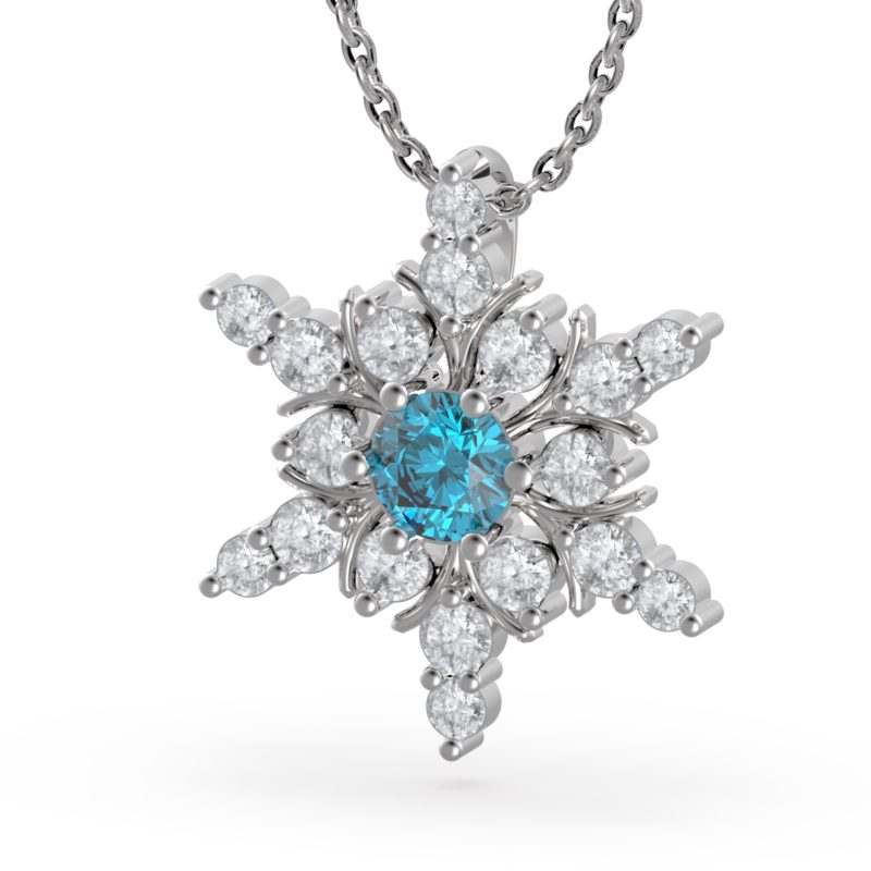 snowflake necklace RSP 0383